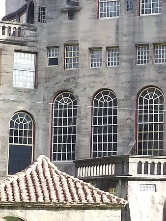 Fonthill: Different sized windows are common - view from back of castle