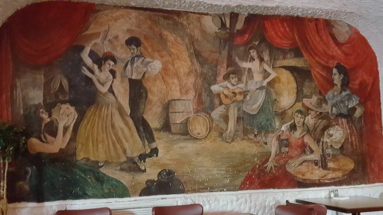 La Cueva del Chicken Inn: One of the oldest murals out there over 50 years old. Come on over and check it out...