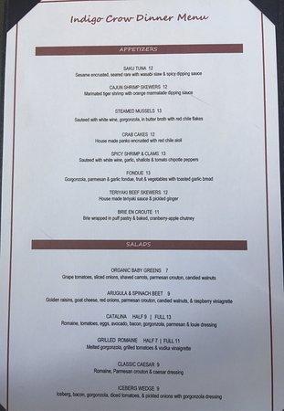 Corrales, NM: Dinner Menu
