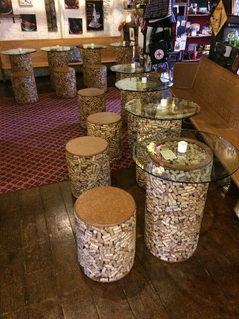 Algoma, WI: Wine cork furniture