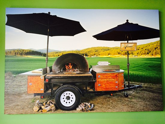 our legendary mobile pizza oven ready to cook the best pizza at