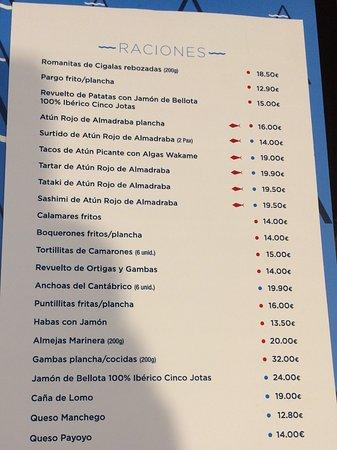 Carta barra fotograf a de restaurante antonio zahara de los atunes tripadvisor - Casa antonio zahara ...