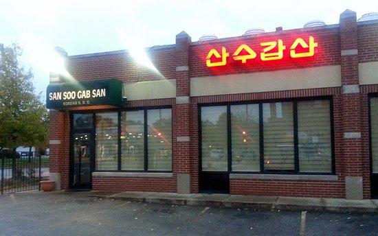 Front of & Entrance to San Soo Gab San Korean Restaurant & Sushi House