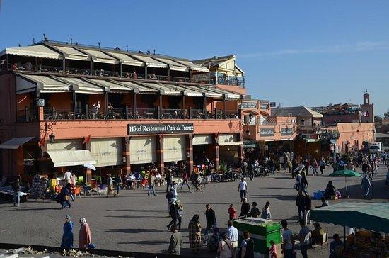 Café de France, foto tomada desde la Plaza Jemaa el Fna