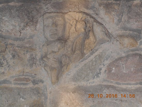 St Mary's Church Wirksworth. Adam - Saxon carving