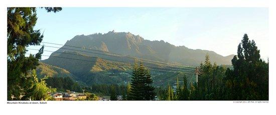 Kinabalu Pine Resort : The dawn view of Mt Kinabalu from Pine Resort
