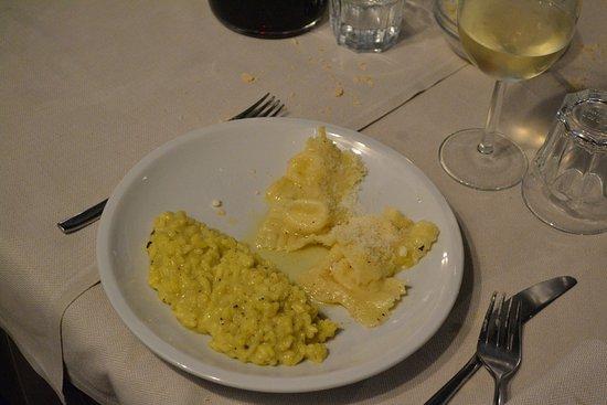 Marcheno, Italia: RISOTTO ZAFFERANO E TARTUFO