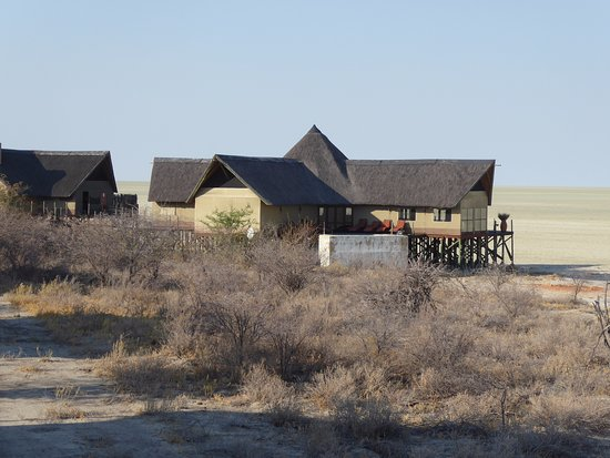 Onkoshi Camp: lodges on stilts next to the pan