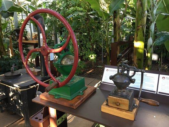 Frutigen, Szwajcaria: Verschiedene alte Kaffeemühlen