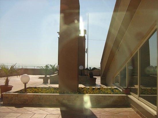 Orchidea Boutique Spa: Dachterrasse, leider war diese im März noch geschlossen