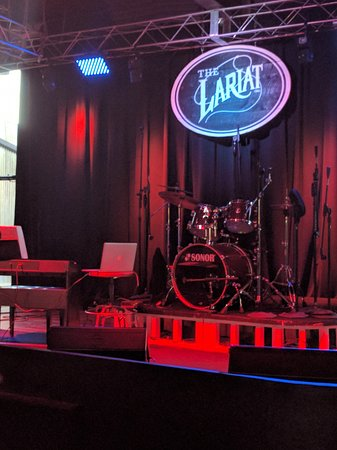 The Lariat: Stage where they have a variety live music.