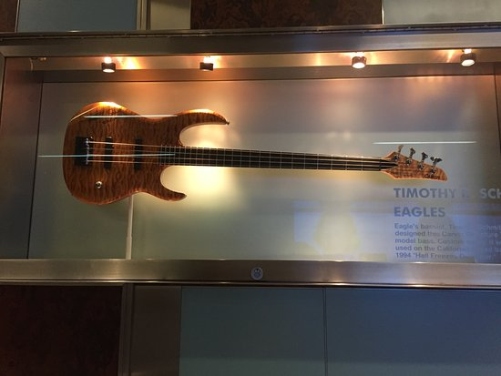 Timothy B Schmit guitar, Hard Rock Hotel lobby - Picture of