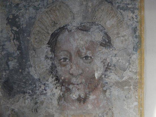 Hermagor, Austria: Christ - medieval painting