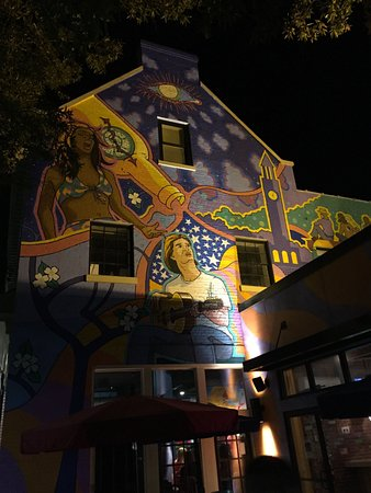 Downtown Chapel Hill Colorful Mural At Restaurant