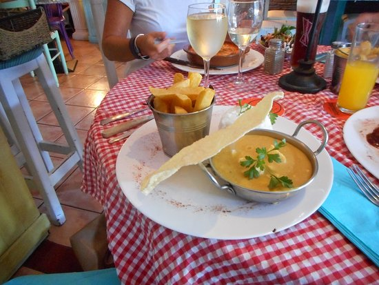 Chicken Curry with Chips