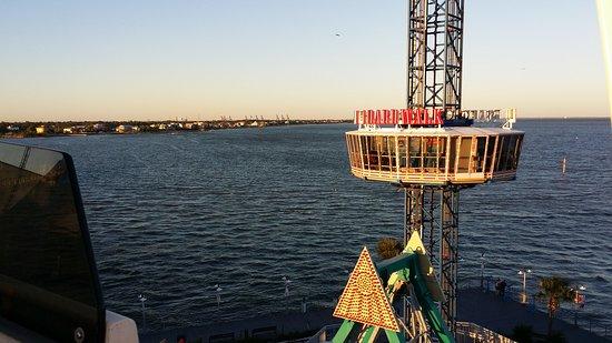 Kemah Boardwalk: View from the ferris wheel
