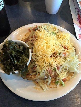 Marietta, GA: Two Mahi Mahi Tacos and Collard Greens