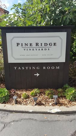 Pine Ridge Winery: Leading into the Tasting Room