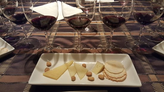 Pine Ridge Winery: This was the presentation at the end of the tour for your tasting.