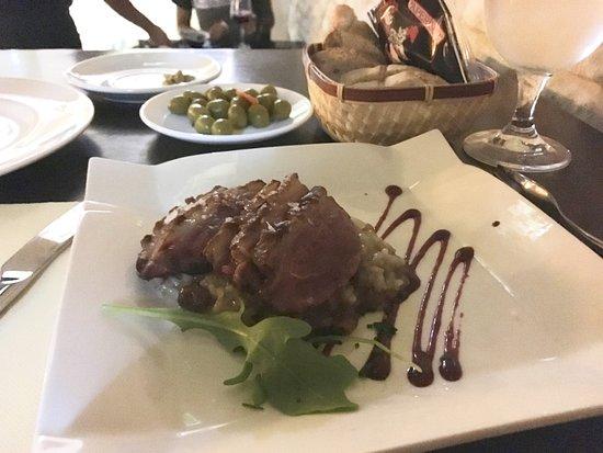 Al Aljibe: Duck breast with Apple Risotto