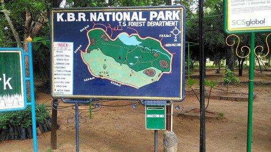 Park Map Picture of KBR National Park Hyderabad TripAdvisor