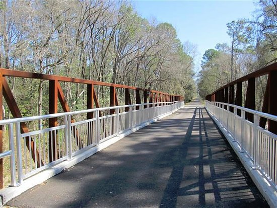 Lake Butler, FL: Sample trail bridge, shows the upkeep and investment
