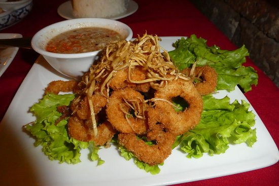khmer surin deep fried squid