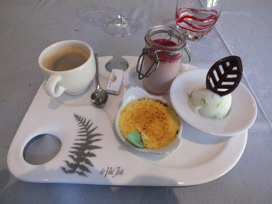 Le Valtin, ฝรั่งเศส: café gourmand