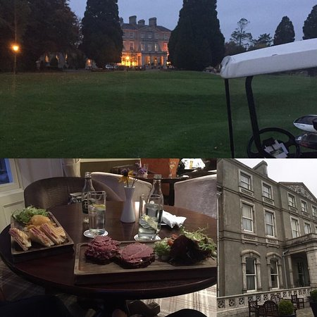 Faithlegg, Ireland: Bar food, hotel from golf course