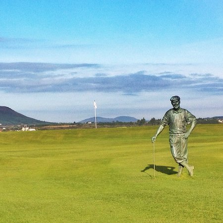 Waterville Golf Links : Paine Stewart statue. Sunny October day!