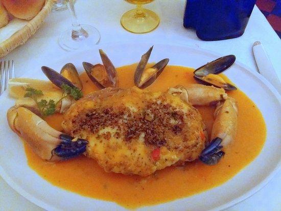Mediterranean: Crab thermidore