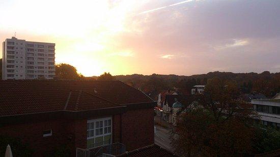 Reinbek, Germany: 早上陽台景色