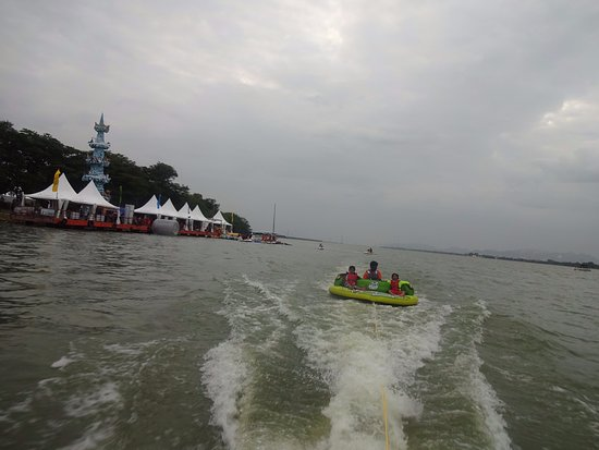 Bhavani Island - Champions Yacht Club: Bhavani Island eveing view
