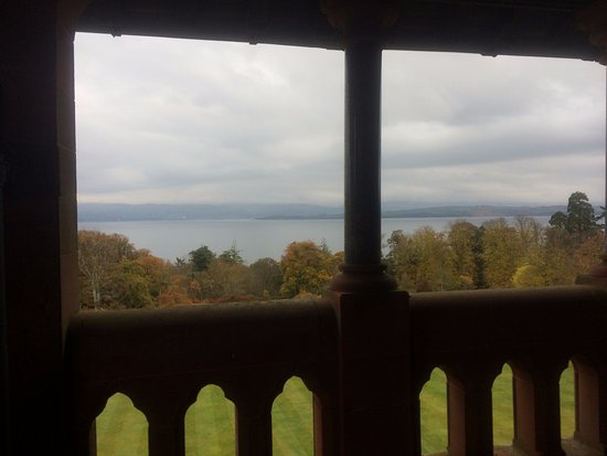 Mount Stuart: The view from the 4th floor galleried walk around the building