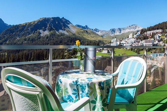 Hotel Altein, Terrasse des Panorama-Restaurants