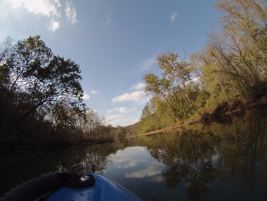 Current River Canoeing Missouri: Current River between Akers and Pulltite