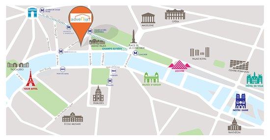 Map Picture of Adveniat Paris Paris TripAdvisor