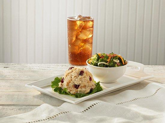 Chicken Salad Chick: Guest favorites: Cranberry Kelli, Broccoli Salad, and sweet tea