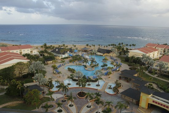 St. Kitts Marriott Resort & The Royal Beach Casino: View of the grounds from the crow's nest.