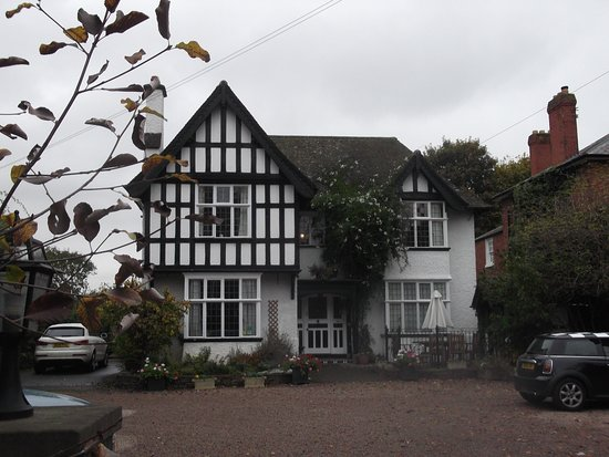 The attractive Edwardian exterior of No 21 with mock Tudor and