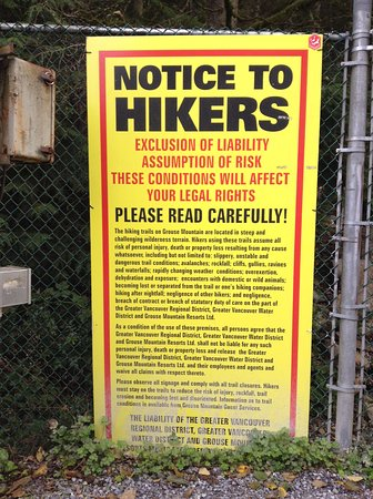 North Vancouver, Canada: OMG, massive warning board over 5ft tall!