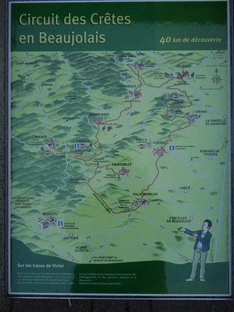 Julienas, France: Walking route in the area.