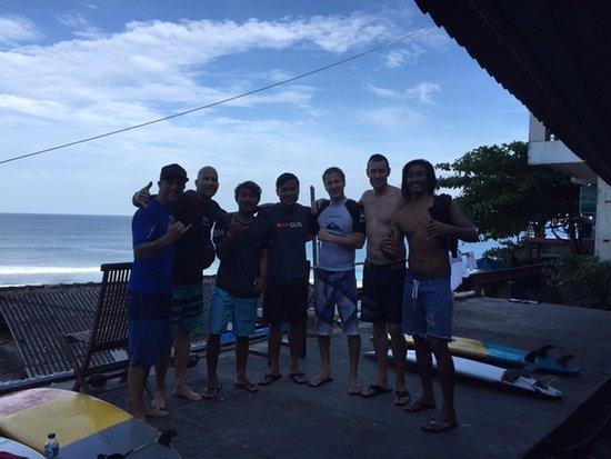 Padang Padang Surf Camp: My surf group and coaches