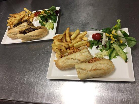 Try our freshly cooked delicious meals Steak Baguette - Cajun Chicken Baguette - Mr Baker's Sala