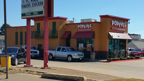 Texarkana, AR: Popeye's Louisiana Kitchen, N. Stateline Ave., just off the TX/AR border I-30 exit.