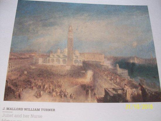 """Coleccion de Arte Amalia Lacroze de Fortabat: J. Mallord William Turner, """"Juliet and her Nurse""""."""