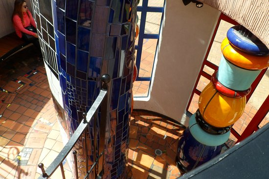 Whangarei, Nueva Zelanda: Looking down from the spiral stairs