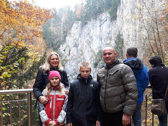 South Moravian Region, Tjeckien: Rodinné foto na dolním můstku
