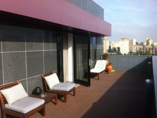 3k Barcelona Hotel: Terraço de uma suite