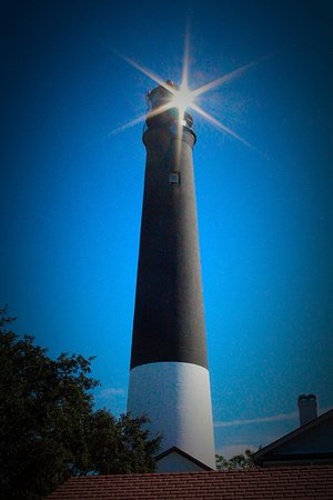 Pensacola Lighthouse and Museum: View of lighthouse from the ground